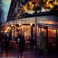 Photo taken at Café de Flore by Isabelle S. on 12/14/2012
