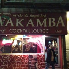 Photo taken at The Distinguished Wakamba Cocktail Lounge by Davey D. on 10/16/2012