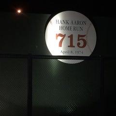 Photo taken at Hank Aaron 715 Home Run Marker by Stephen G. on 7/3/2015