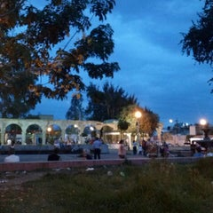 Photo taken at Jardín de San Miguel de Mezquitán by Galileo O. on 6/24/2013