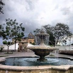 Photo taken at Jardín de San Miguel de Mezquitán by Galileo O. on 6/25/2013