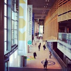 Photo taken at Bibliothèque et Archives nationales du Québec (Grande Bibliothèque) by Julia C. on 11/18/2012