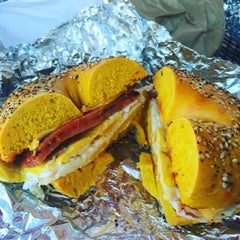Photo taken at Hot Bagels Abroad by michael h. on 9/5/2015
