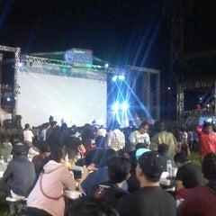 Photo taken at Stadion Lebak Bulus by Alhafidz A. on 7/13/2014