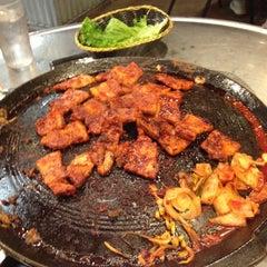 Photo taken at Honey Pig Gooldaegee Korean Grill by Nathan D. on 10/23/2012