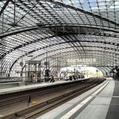Photo taken at Berlin Hauptbahnhof by Michael V. on 5/23/2013