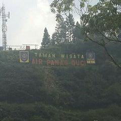 Photo taken at Taman Wisata Air Panas Guci by Dahlia K. on 5/23/2015