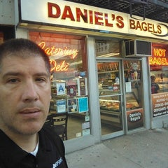 Photo taken at Daniel's Bagels by Patrick C. on 7/26/2014