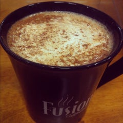 Photo taken at Fusion Coffeehouse by Tyler D. on 10/26/2012