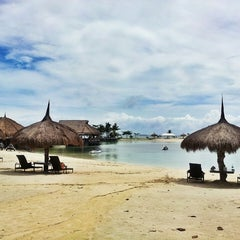 Photo taken at Bluewater Maribago Beach Resort by Jay Fernando S. on 2/25/2013