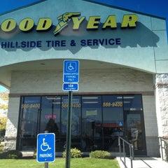 Photo taken at Goodyear (Hillside Tire) by Mollie B. on 10/2/2012
