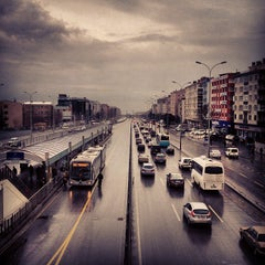 Photo taken at Avcılar Metrobüs Durağı by burak d. on 1/6/2013
