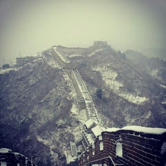Photo taken at 慕田峪长城 Great Wall at Mutianyu by Angie J. on 1/20/2013