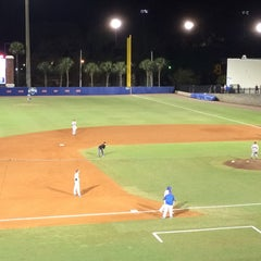 Photo taken at McKethan Stadium at Perry Field by Larry H. on 3/12/2016