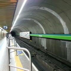 Photo taken at Estação Brigadeiro (Metrô) by Priscila C. on 1/28/2013