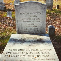 Photo taken at F. Scott Fitzgerald's Grave by Melissa P. on 11/24/2015