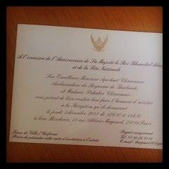 Photo taken at Ambassade Royale de Thaïlande | สถานเอกอัครราชทูตไทย ณ กรุงปารีส | Royal Thai Embassy in Paris by ??????? ?. on 12/5/2013