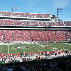 Photo taken at Sanford Stadium by Scott S. on 11/24/2012