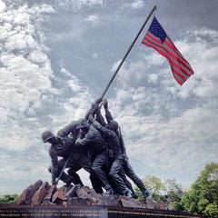 Photo taken at US Marine Corps War Memorial (Iwo Jima) by Stephen B. on 5/28/2013