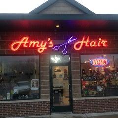 Photo taken at Amy's Hair Hydeaway by Dan J. on 12/15/2012