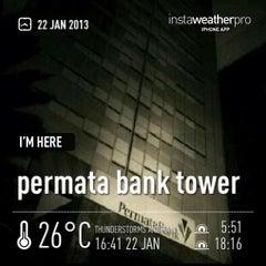 Photo taken at Permata Bank Tower Sudirman by Erfira S. on 1/22/2013