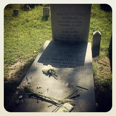 Photo taken at F. Scott Fitzgerald's Grave by Ian L. on 7/4/2013
