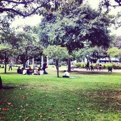 Photo taken at Parque de la 93 by Andre R. on 10/4/2012