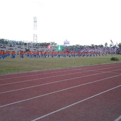 Photo taken at Stadion Maesa Tondano by Cynthia 'Tayu' T. on 11/20/2013