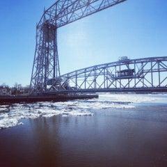 Photo taken at Duluth Lift Bridge by Ryan K. on 4/20/2013