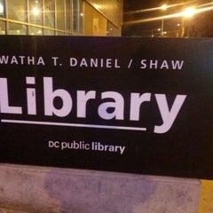 Photo taken at DC Public Library - Watha T. Daniel/Shaw by J V. on 12/15/2012