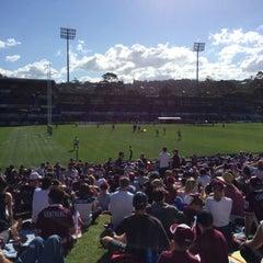 Photo taken at Brookvale Oval by Stephen F. on 8/31/2014