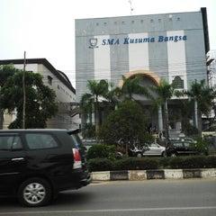 Photo taken at SMA Kusuma Bangsa by Indra G. on 9/17/2014