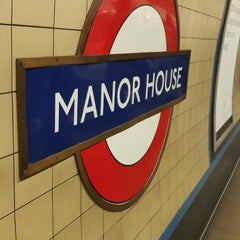Photo taken at Manor House London Underground Station by Peter P. on 3/6/2015
