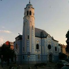Photo taken at Kostol sv. Alžbety (Modrý kostolík) by Jan Z. on 8/8/2015