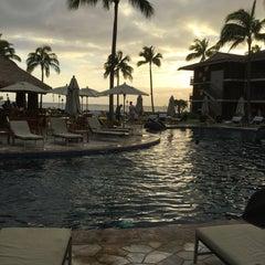 Photo taken at Ko'a Kea Hotel & Resort by BK T. on 1/1/2015