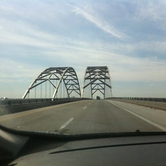Photo taken at Luther Draffen Bridge by Wesley S. on 3/27/2013