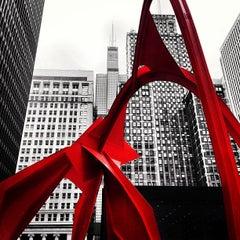 Photo taken at Alexander Calder's Flamingo Sculpture by Ryan M. on 5/3/2013