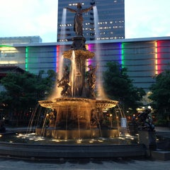 Photo taken at Fountain Square by Jack V. on 5/7/2013