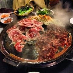 Photo taken at Honey Pig Gooldaegee Korean Grill by conans h. on 1/21/2013