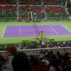 Photo taken at Khalifa International Tennis & Squash Complex by Sam R. on 1/1/2013