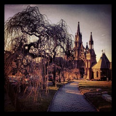 Photo taken at The Green-Wood Cemetery by Mary-Majella O. on 1/11/2013