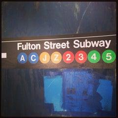 Photo taken at MTA Subway - Fulton St (A/C/J/Z/2/3/4/5) by Izabelle D. on 6/4/2013