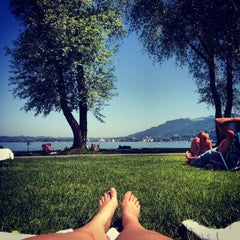 Photo taken at Strandbad Bregenz by Jana on 6/8/2014