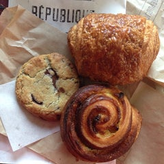 Photo taken at République by Midtown Lunch LA on 12/13/2013