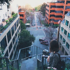 Photo taken at Fillmore Stairs by Alex K. on 3/15/2015