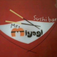 Photo taken at Mr. Miyagi Sushi Bar by Megg T. on 10/4/2012