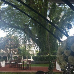 Photo taken at Ex-Hacienda Casasano by Fabiola D. on 10/4/2014