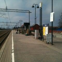 Photo taken at Rygge stasjon by Jonathan C. on 5/6/2013