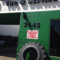 Photo taken at Pacific Coast Tire and Service by MJ D. on 3/14/2014
