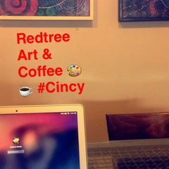 Photo taken at Redtree Art Gallery and Coffee Shop by Stephanie W. on 2/25/2015